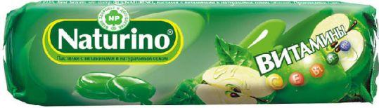 Натурино с витаминами и натуральным соком пастилки яблоко 36,4г, фото №1