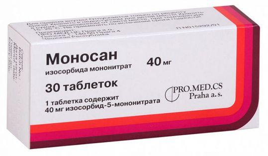 Моносан 40мг 30 шт. таблетки, фото №1