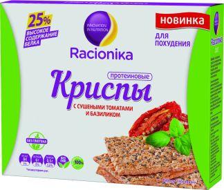 Рационика диет криспы протеиновые д/похудения с сушеными томатами и базиликом n16