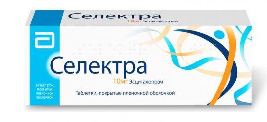 Селектра 10мг 28 шт. таблетки покрытые пленочной оболочкой, фото №1