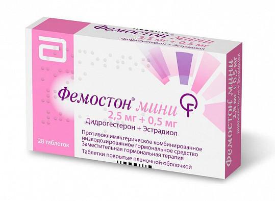 Фемостон мини 2,5мг+0,5мг 28 шт. таблетки покрытые пленочной оболочкой, фото №3