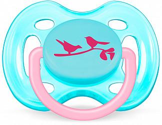 Авент пустышка силиконовая дизайн для девочки с 0 месяцев 86123 (scf172/13)