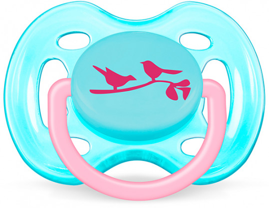 Авент пустышка силиконовая дизайн для девочки с 0 месяцев 86123 (scf172/13), фото №1
