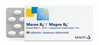 Магне в6 60 шт. таблетки покрытые оболочкой