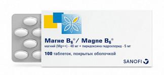 Магне в6 100 шт. таблетки покрытые оболочкой санофи винтроп индустрия