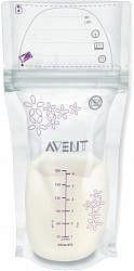 Авент пакеты для хранения грудного молока стерильные 80250 (scf603/25) 180мл 25 шт.