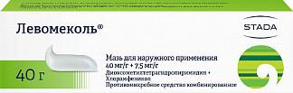 Левомеколь 40г мазь для наружного применения