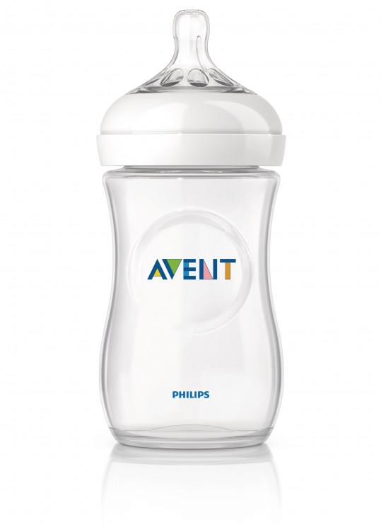 Авент натурель бутылочка для кормления с соской медленный поток 86015 (scf693/17) 260мл, фото №1