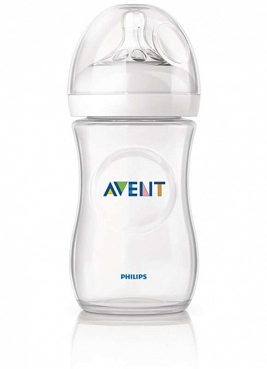 Авент натурель бутылочка для кормления с соской медленный поток 86015 (scf693/17) 260мл, фото №2