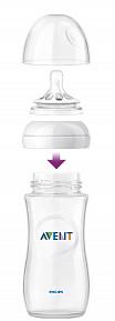 Авент натурель бутылочка для кормления с соской средний поток 86475 (scf696/17) 330мл, фото №2