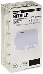 Мануал нитрил перчатки смотровые нестерильные неопудренные повышенной прочности rn709 размер s пара
