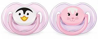 Авент пустышка силиконовая для девочек 0-6 месяцев (scf182/13) 2 шт.