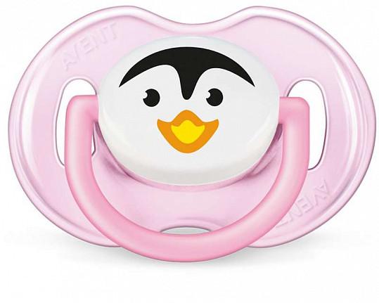 Авент пустышка силиконовая для девочек 0-6 месяцев (scf182/13) 2 шт., фото №2