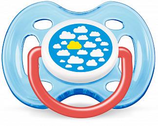 Авент пустышка силиконовая дизайн для мальчика с 0 месяцев 86122 (scf172/12)