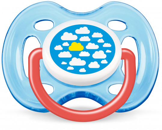 Авент пустышка силиконовая дизайн для мальчика с 0 месяцев 86122 (scf172/12), фото №1