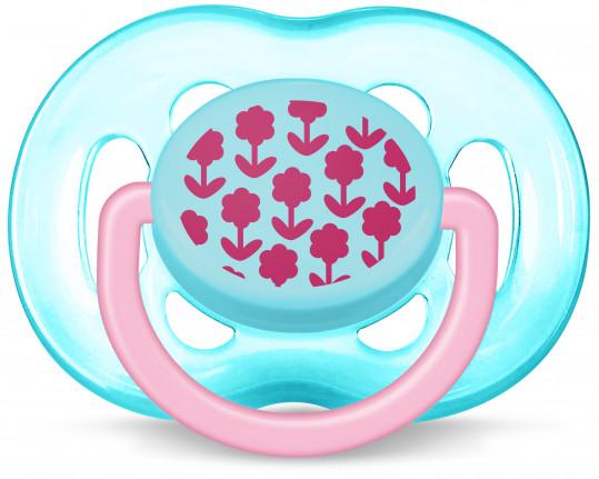 Авент пустышка силиконовая дизайн для девочки с 6 месяцев 86125 (scf172/15), фото №1