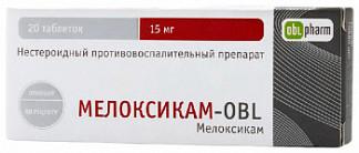 Мелоксикам-obl 15мг 20 шт. таблетки