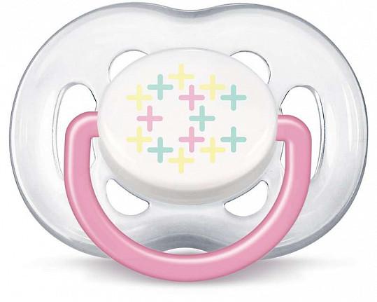 Авент пустышка силиконовая для девочек 6-18 месяцев (scf180/28) 2 шт., фото №2