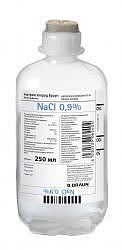 Натрия хлорид браун 0,9% 250мл раствор для инфузий