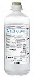 Натрия хлорид браун 0,9% 500мл раствор для инфузий