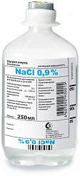 Натрия хлорид 0,9% 250мл раствор для инфузий флакон п/э
