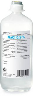 Натрия хлорид 0,9% 500мл р-р д/инфузий фл. п/э