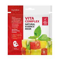 Киоко маска для лица тканевая тонизирующая комплекс витаминов а,е,с/растительный протеин зародышей пшеницы 1 шт.