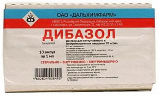 Дибазол 10мг/мл 1мл 10 шт. раствор для внутривенного и внутримышечного введения