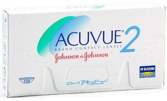 Акувью 2 линзы контактные r8,7 -3,00 6 шт. джонсон & джонсон, фото №1