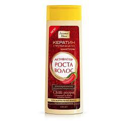 Золотой шелк шампунь для нормальных волос активатор роста перец чили арт.2406 400мл