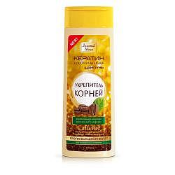 Золотой шелк шампунь против выпадения волос укрепитель корней кофеин арт.2413 400мл