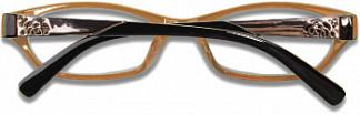 Кемнер оптикс очки корригирующие для чтения коричнево-бежевые пластик +1,5