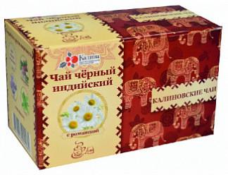 Калиновские чаи чай черный индийский с ромашкой 20 шт. фильтр-пакет