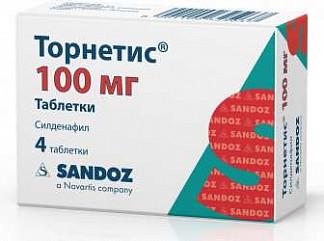 Торнетис 100мг 4 шт. таблетки