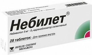 Небилет 5мг 28 шт. таблетки