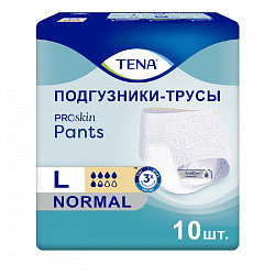 Тена пантс проскин нормал подгузники-трусы размер l 10 шт.