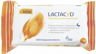 Лактацид салфетки для интимной гигиены 15 шт.