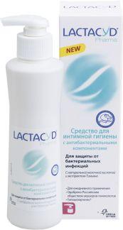 Лактацид фарма средство д/интимной гигиены с антибактериальными компонентами 250мл