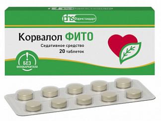 Корвалол фито 1,16мг+28мг+16,4мг 20 шт. таблетки