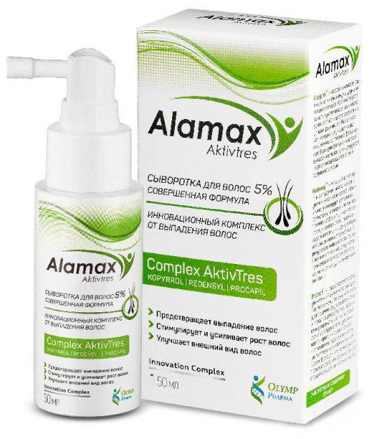Аламакс сыворотка для волос 5% совершенная формула 50мл, фото №1