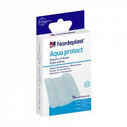 Нордепласт набор пластырей медицинских аква протект водонепроницаемые 3-х размеров 16 шт.