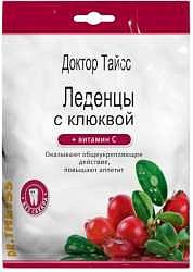 Тайсс леденцы клюква, витамин с 50г
