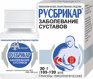 РУСБРИКАР 30г гранулы гомеопатические