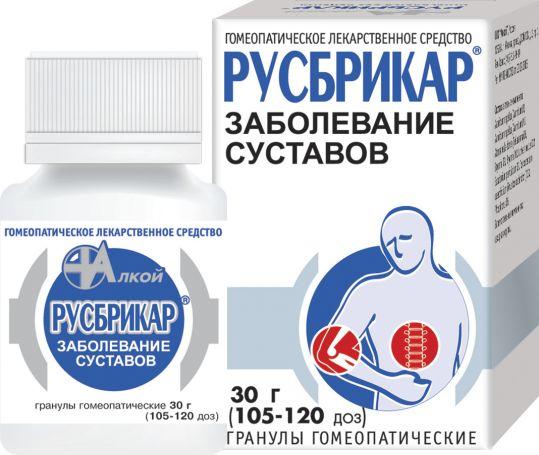 Русбрикар 30г гранулы гомеопатические, фото №1