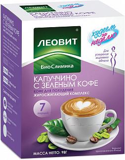 Леовит биослимика капуччино с зеленым кофе кофе для похудения жиросжигающий комплекс 14г