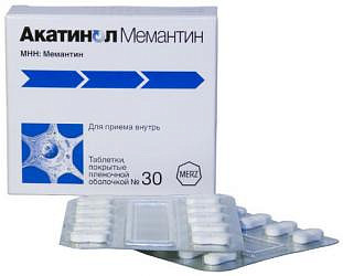 Акатинол мемантин 10мг 30 шт. таблетки покрытые пленочной оболочкой