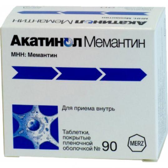 Акатинол мемантин 10мг 90 шт. таблетки покрытые пленочной оболочкой, фото №1