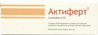 Актиферт кристаллматрикс-фс гель интимный 5мл 2 шт.