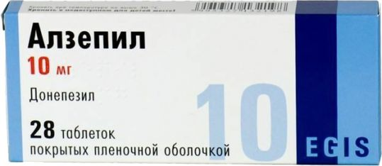 Алзепил 10мг 28 шт. таблетки покрытые пленочной оболочкой, фото №1