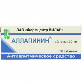 Аллапинин 25мг 30 шт. таблетки